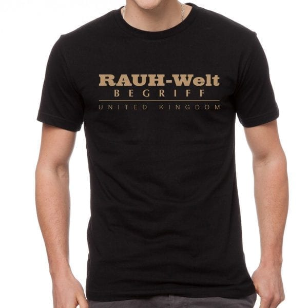 Rauh Welt Begriff RWB UK Mens T-Shrit Black with Golden Logo