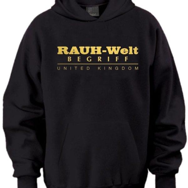 Rauh Welt Begriff RWB UK Black Hoodie with Golden Logo