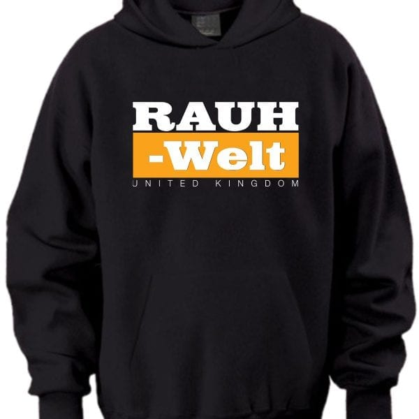 Rauh Welt Begriff RWB UK Black Hoodie with Orange Logo