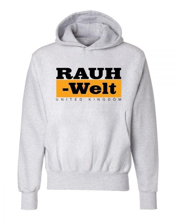 Rauh Welt Begriff RWB UK Grey Hoodie with Orange Logo