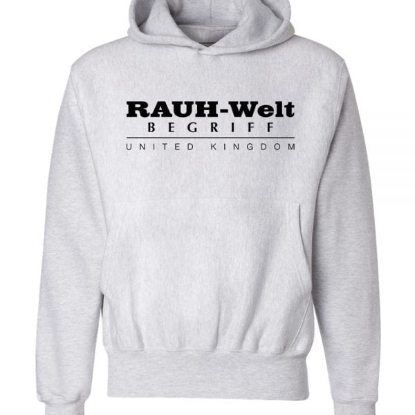 Rauh Welt Begriff RWB UK GREY Hoodie with Black Logo