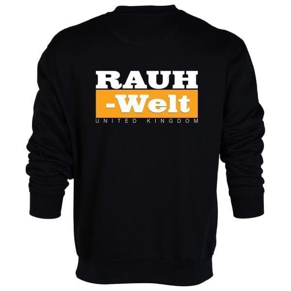 Rauh Welt Begriff RWB UK Black Sweatshirt with Orange Logo