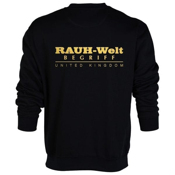 Rauh Welt Begriff RWB UK Black Sweatshirt with GOLDEN Logo