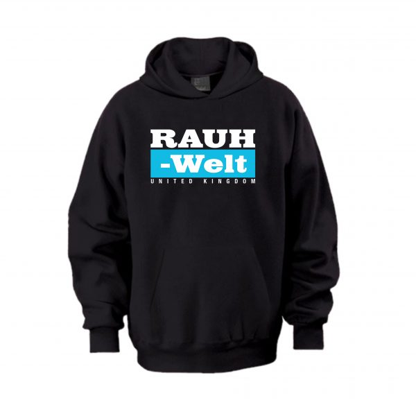 Rauh Welt Begriff RWB UK Black Hoodie with Blue Logo