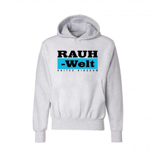 Rauh Welt Begriff RWB UK Grey Hoodie with Blue Logo