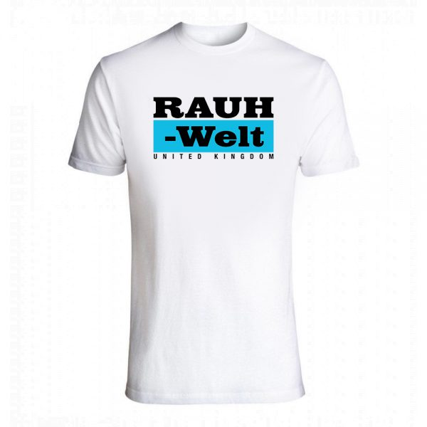 Rauh Welt Begriff RWB-2 UK Mens T-Shrit White with Blue Logo