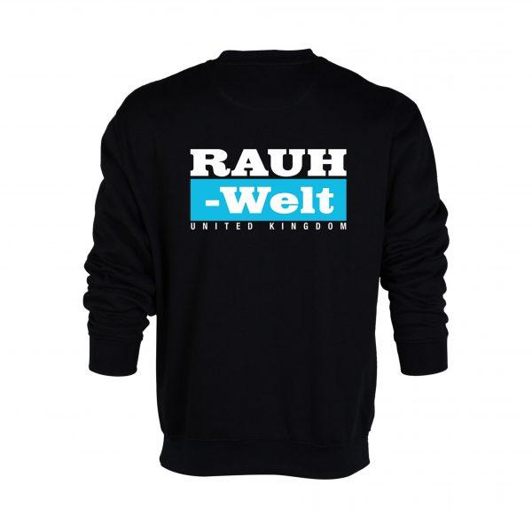 Rauh Welt Begriff RWB UK T-Shrit Black with Blue Logo